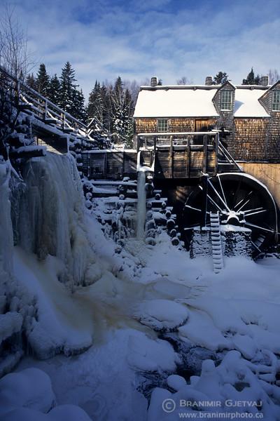 Reconstructed historic sawmill at Kings Landing, New Brunswick