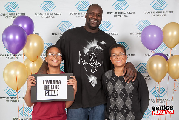 04.01.13 Venice SHAQtacular at the Venice Boys and Girls Club. Hosted by Shaquille O'Neal