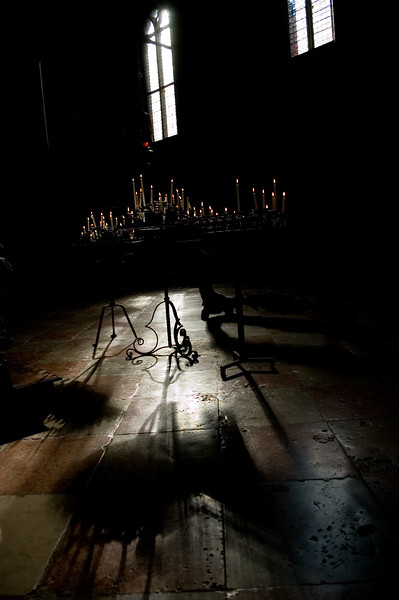 Interior of Santo Stefano church, in Gothic style, San Marco quarter, Venice, Italy
