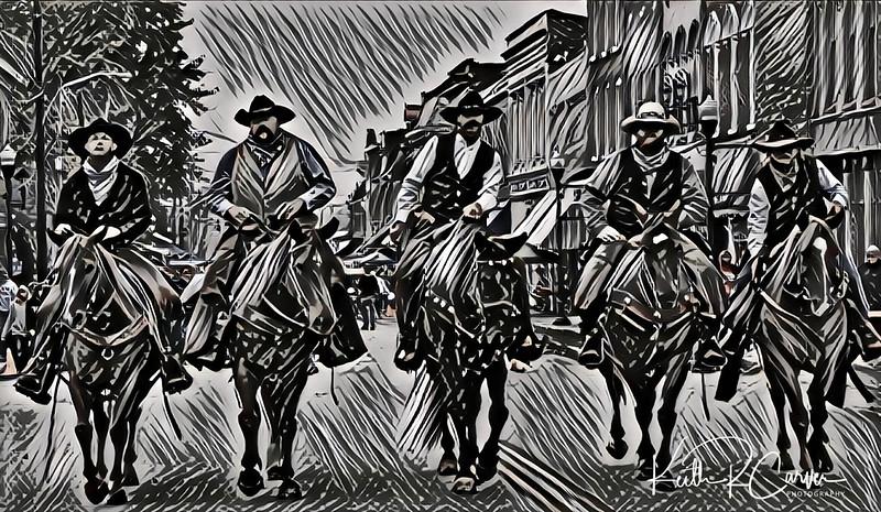 Jesse James gang rides again (Russellville, Kentucky)