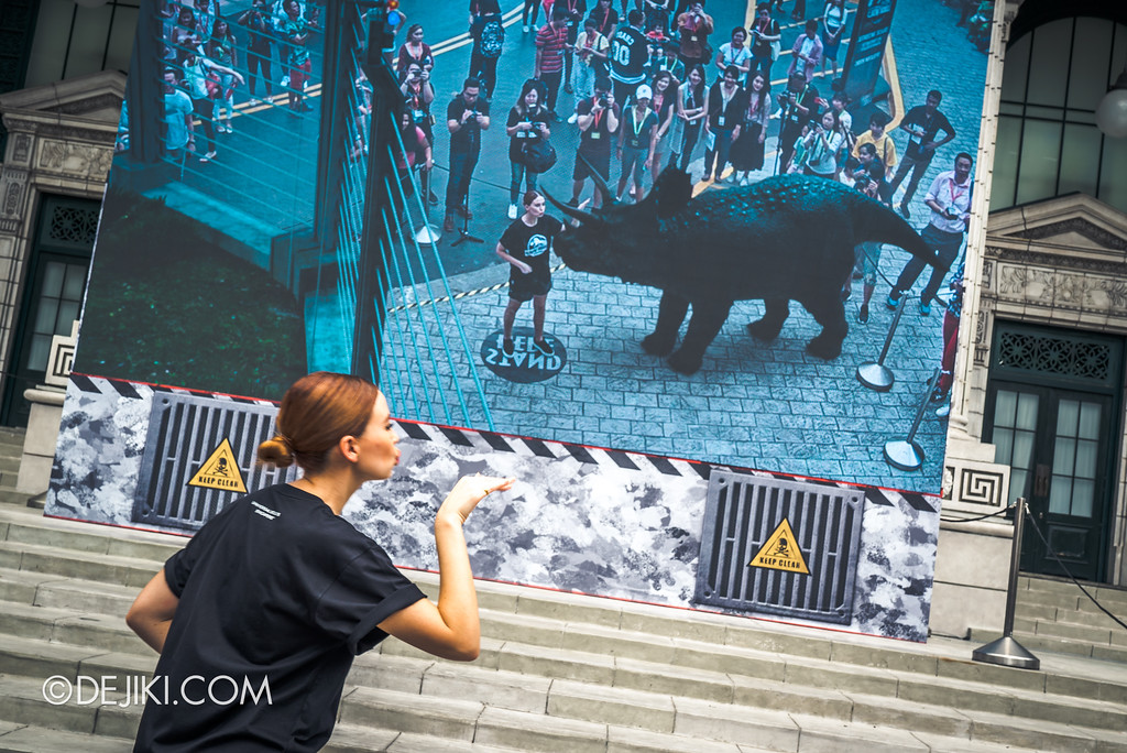 Universal Studios Singapore Park Update - Jurassic World Explore and Roar event - Jurassic World: Jurassic Encounter Meet Dinosaurs in Augmented Reality interaction