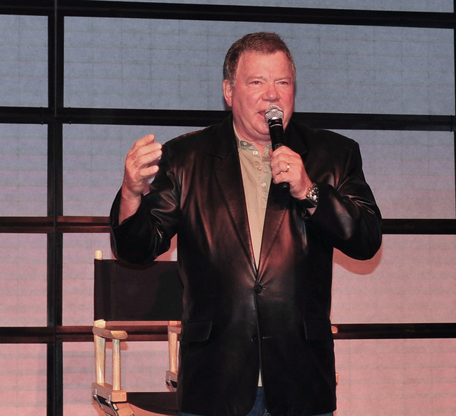 William Shatner takes the stage