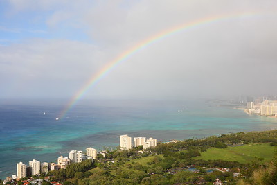 Rainbow over Waikiki. © 2020 Kenneth R. Sheide