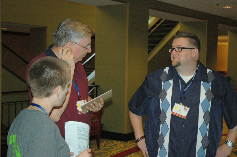 Dan Doering speaks to other Follow Me participants