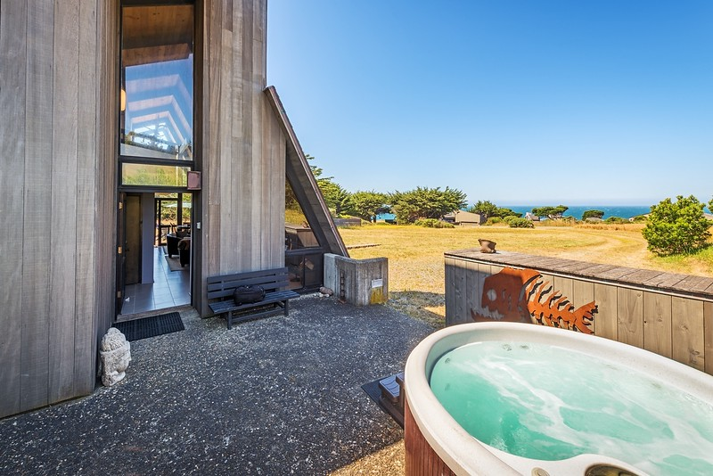 Front Patio & Hot Tub