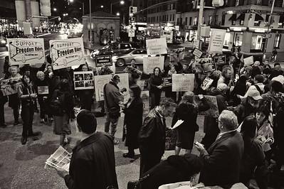 Israel v Palestinan Protest