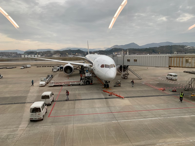 SQ656 Arrives at Fukuoka at 8am