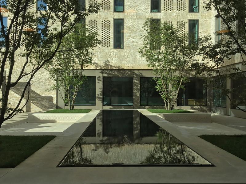Courtyard, Victoria Hall (IIS & AKU Student Residence).  Kings Cross, London, UK