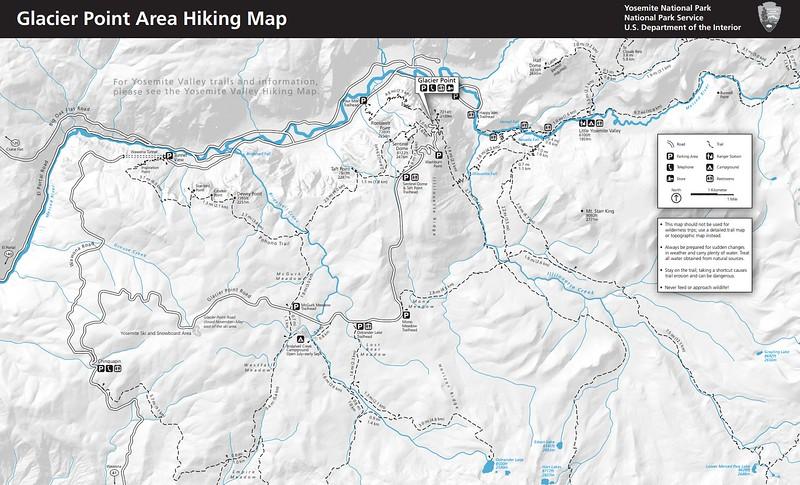 Yosemite National Park (Trails - Glacier Point Area)