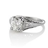 1.88ctw Platinum Filigree Solitaire Ring by C.D. Peacock, GIA S-T, VS 0