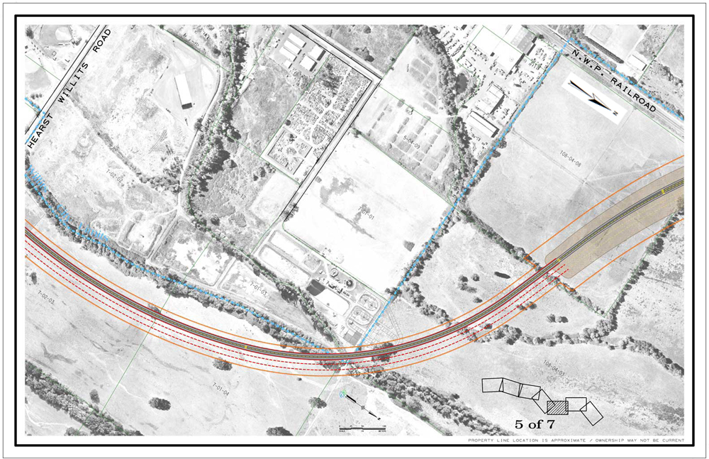 Description of . CalTrans drawing showing the viaduct portion of Willits bypass project.
