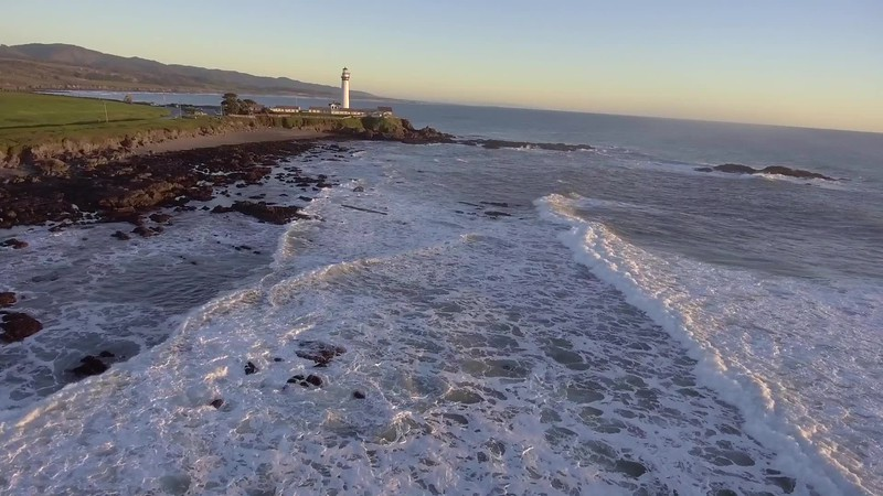 Aerial Perspectives Of Half Moon Bay & Pigeon Point Lighthouse