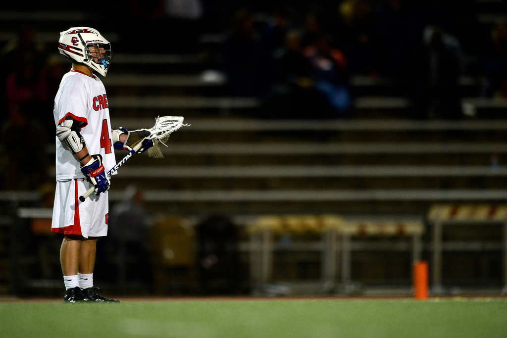 . Cherry Creek attacker Henry Adams (42) during Cherry Creek\'s 7-6 win.  (Photo by AAron Ontiveroz/The Denver Post)