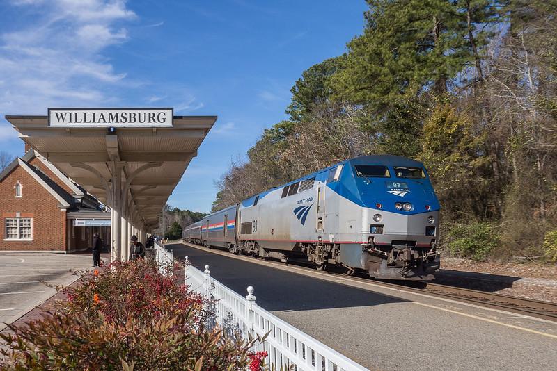 Amtrak $67 Arriving in Williamsburg Virginia
