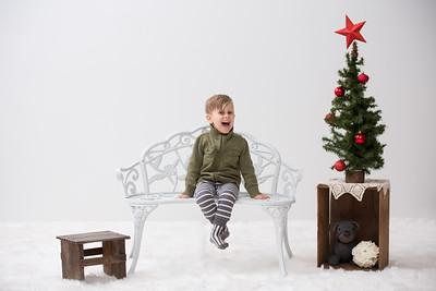 Christmas- High Key Charlie Brown Tree Family Studio Set-Up