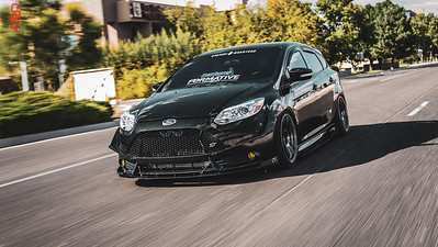Nik's 2104 Focus ST on 18x9 e35 Rota G-Force in Hyper Black