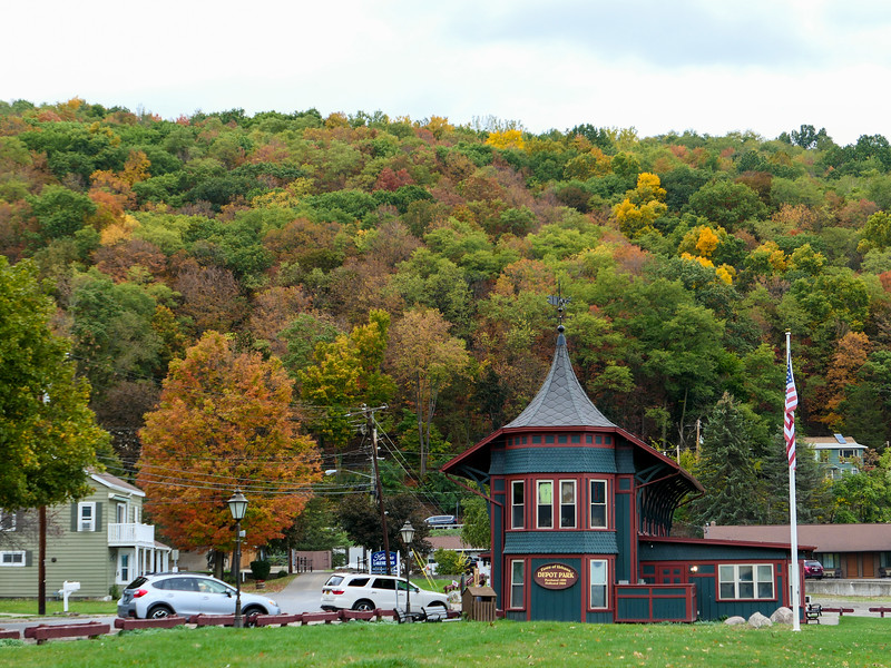 Hammondsport, New York, in fall