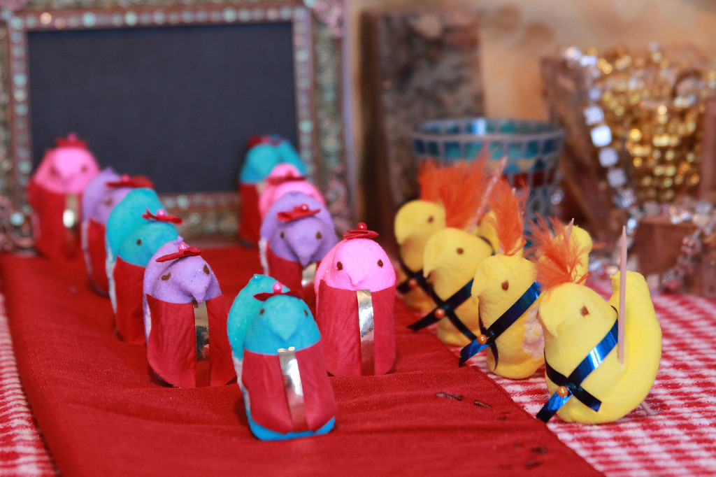 ". ""Peeps conclave,\"" by Sue Baugus, White Bear Lake, and daughter Erin"