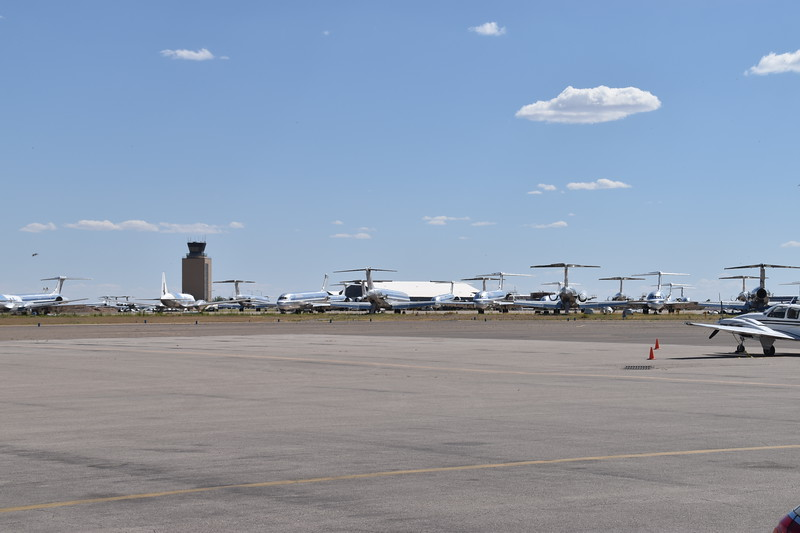Roswell airport is huge, and home to about 100 derelict MD-80 airliners.