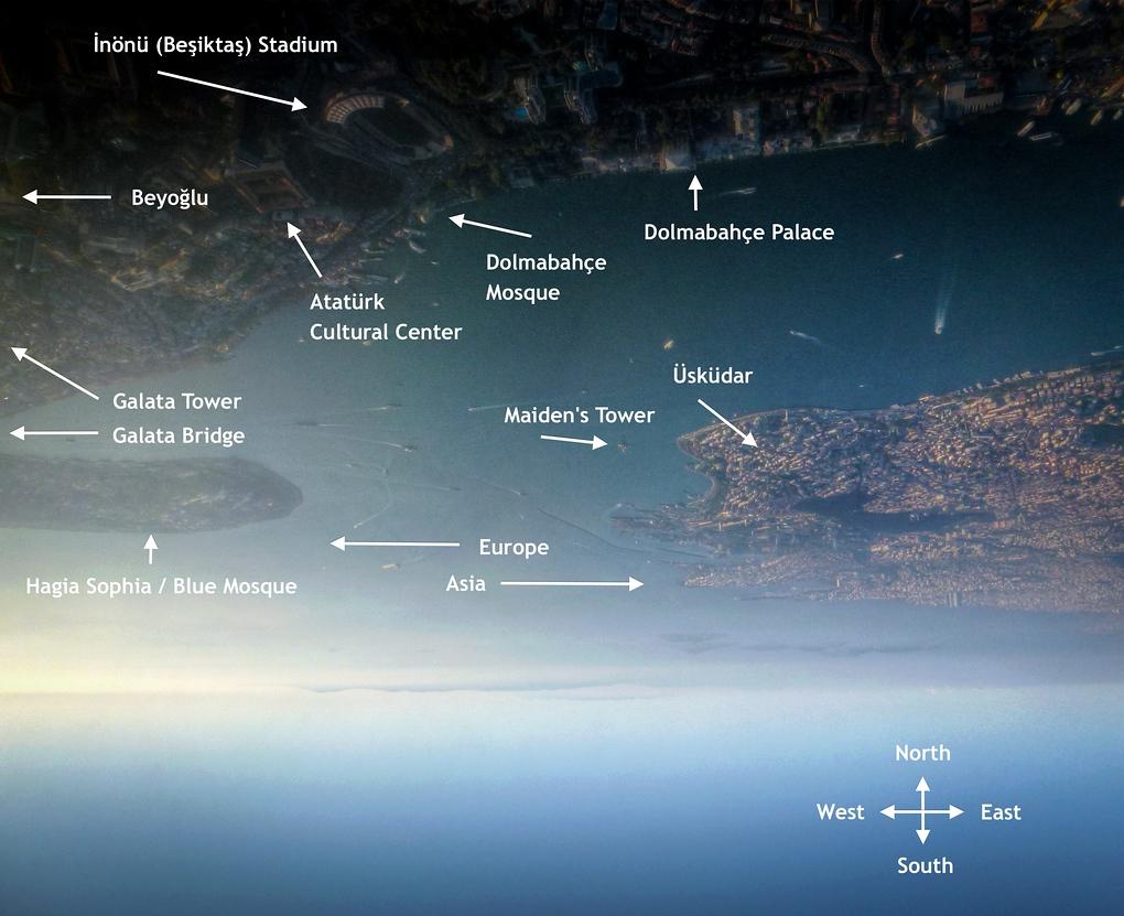 istanbul landmarks map
