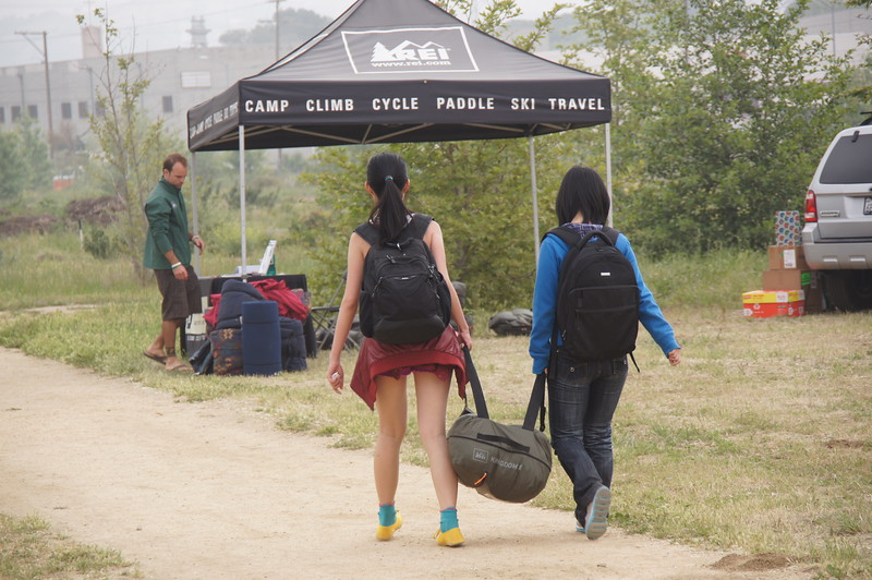 Camping - Returning Tents