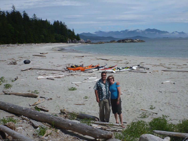 Sean and Susan at Jakobsen point on the Brooks Peninsula