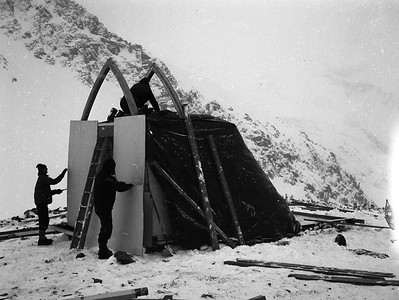 Dick Chambers Collection: Building the Himmelsbach Hut, 1967