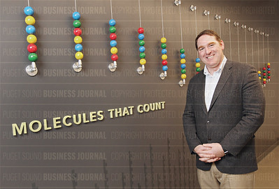 Nanostring CEO Brad Gray is pictured in the labs at his company's headquarters in South Lake Union in Seattle, Wash.