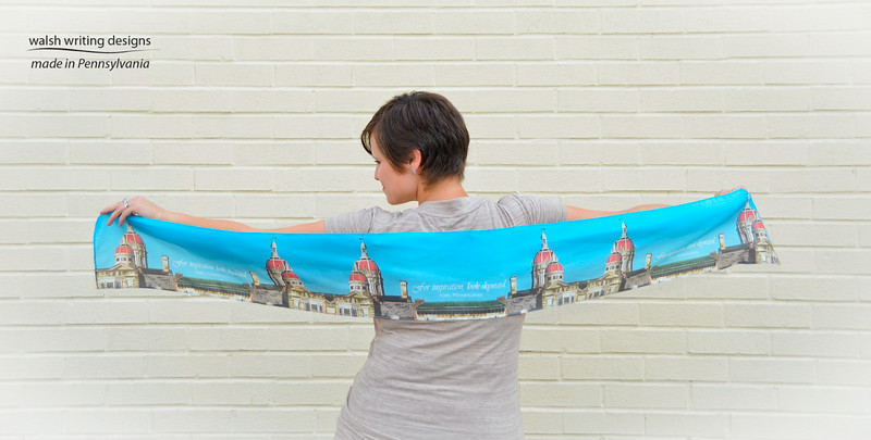 Rising Above the Commonplace silky scarf