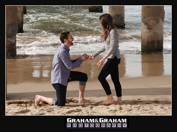 Wedding proposal under the Manhattan Beach Pier