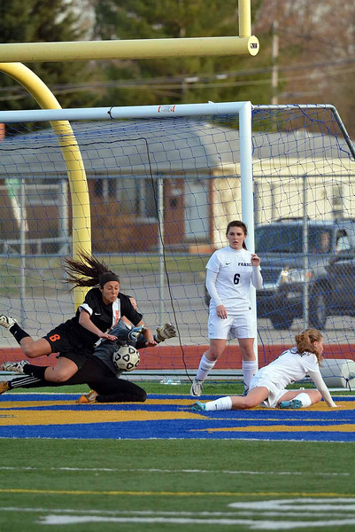 MD Fraser battles Utica in girls soccer(RAY SKOWRONEK/THE MACOMB DAILY)