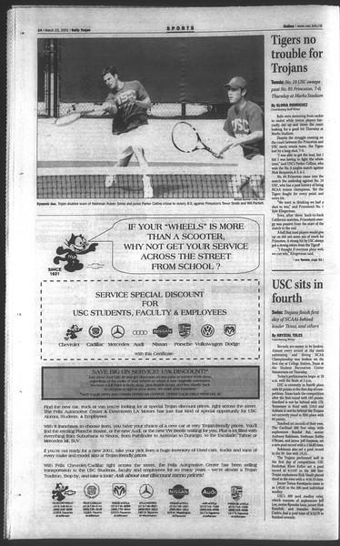 Daily Trojan, Vol. 142, No. 43, March 23, 2001