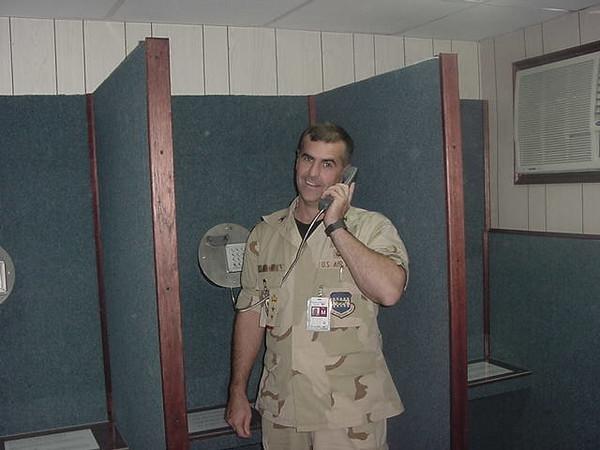 Col Nichols on the phone.JPG