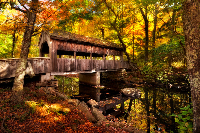Devil Hopyard Covered Bridge