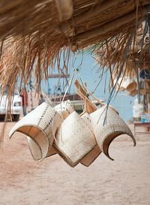 Gift stall on the banks of the Mekong. Pakse, Laos