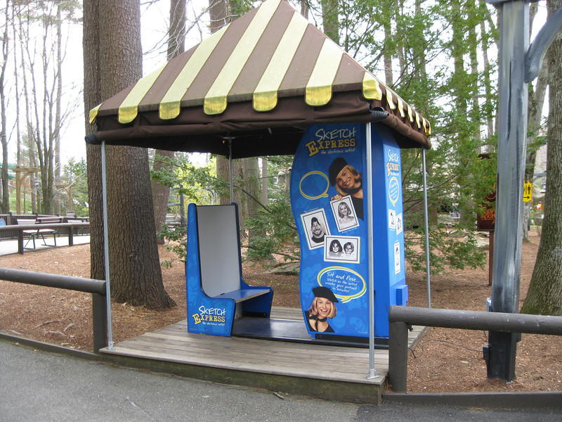 Photo booth under a canopy in Olde Canobie Village.