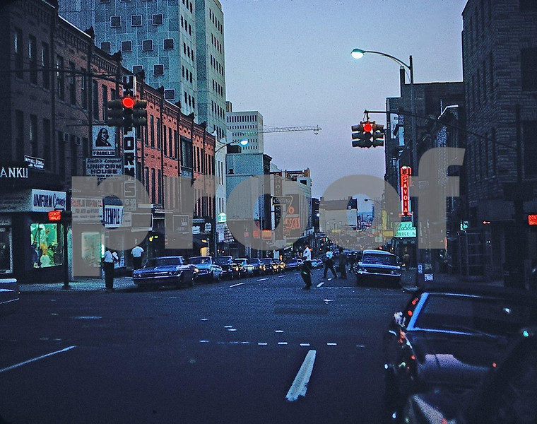 There is an area in downtown Baltimore that is known as 'The Block.'  Here it is in 1968.