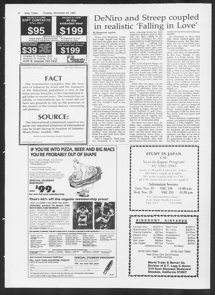 Daily Trojan, Vol. 97, No. 55, November 20, 1984