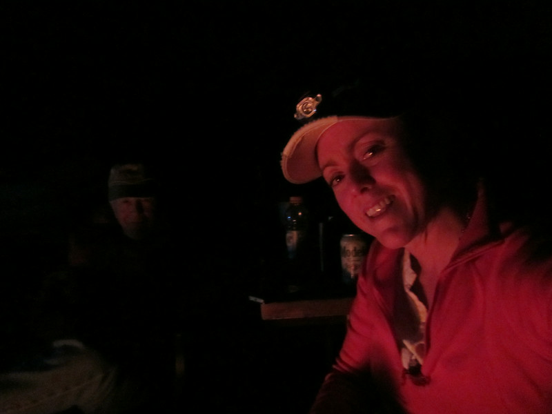 Me and Dad chillin at the camp fire