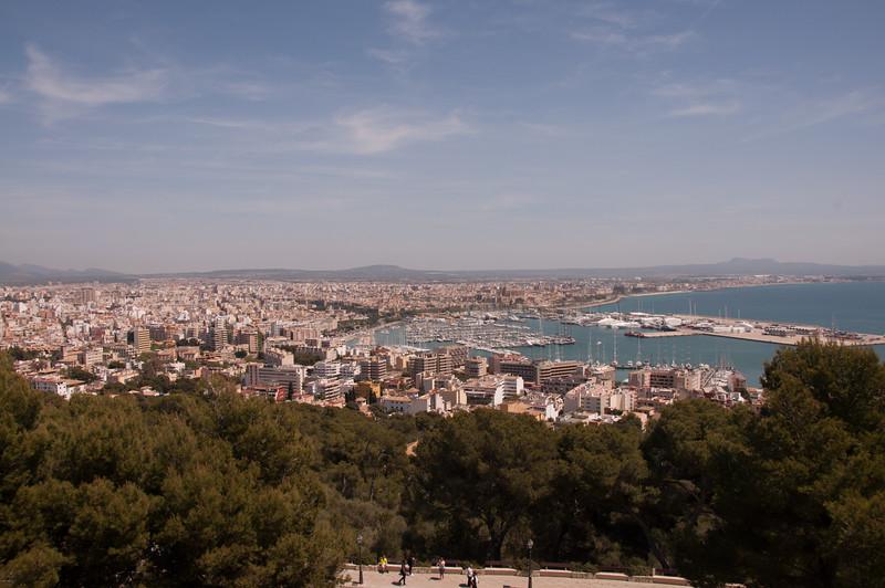 A castle's view of Palma