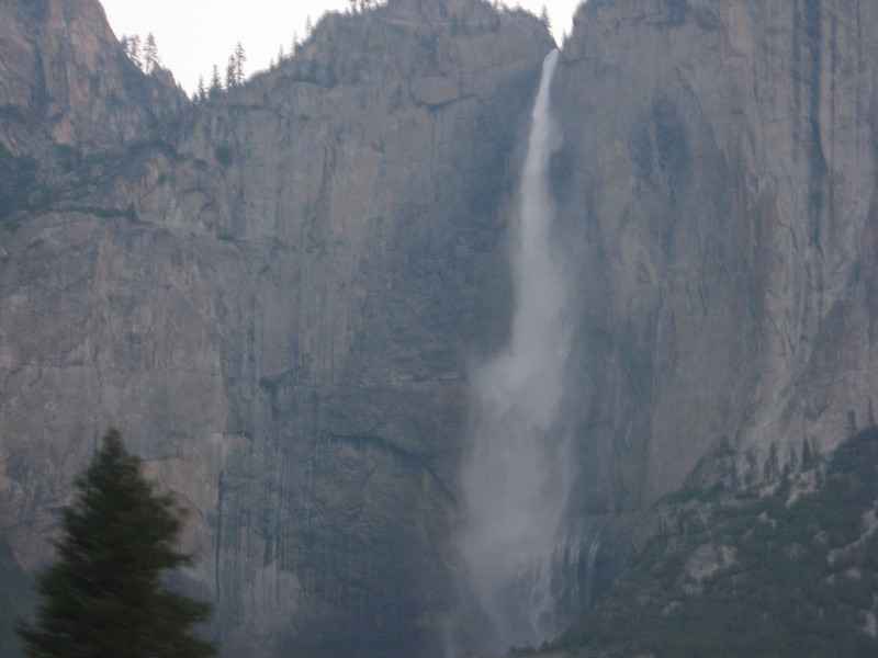 Yosemite Falls on the way in Monday morning