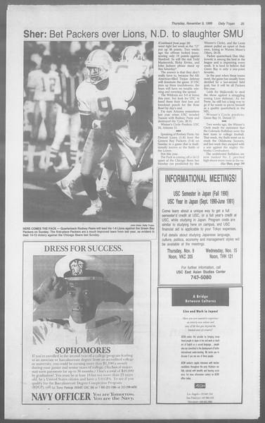 Daily Trojan, Vol. 110, No. 47, November 09, 1989