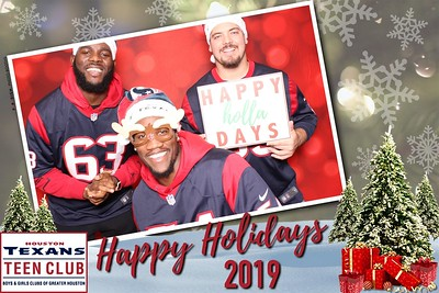 December 10, 2019  - Houston Texans Teen Club Holiday Party
