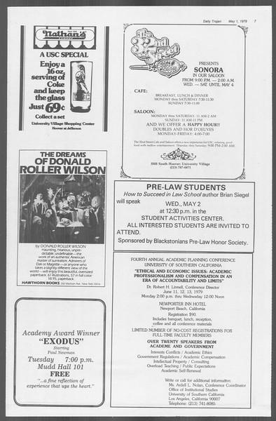 Daily Trojan, Vol. 76, No. 50, May 01, 1979
