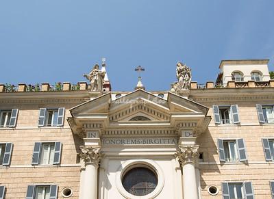 Santa Birgitta, Piazza Farnese