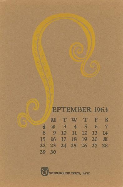 September, 1963, Underground Press
