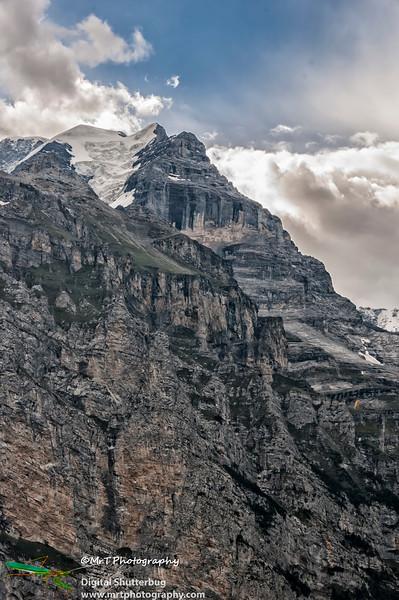 View of glacier - Bernese Alps Switzerland