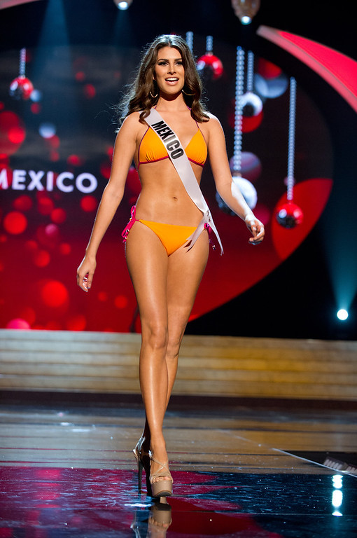 . Miss Mexico 2012, Karina Gonzalez, competes in her Kooey Australia swimwear and Chinese Laundry shoes during the Swimsuit Competition of the 2012 Miss Universe Presentation Show on Thursday, December 13th at PH Live in Las Vegas, Nevada. The 89 Miss Universe Contestants will compete for the Diamond Nexus Crown on the LIVE NBC Telecast of the 2012 Miss Universe Pageant set for 8:00 PM ET on December 19, 2012.HO/Miss Universe Organization L.P., LLLP