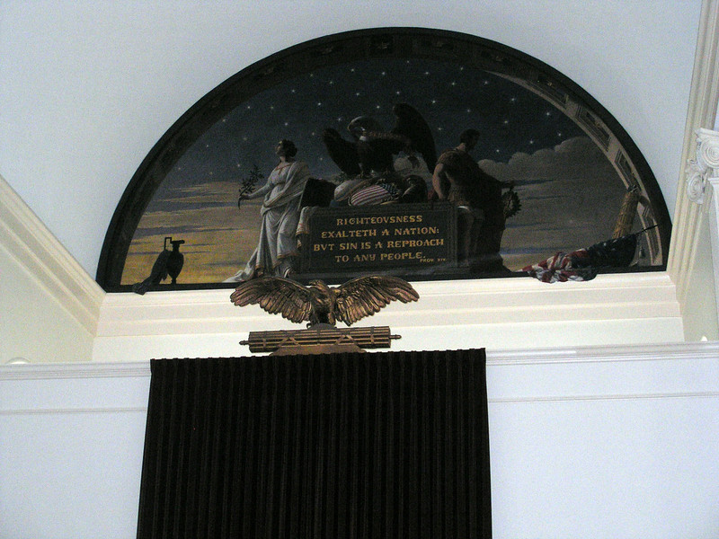 Mural in Post (Lutheran) Chapel