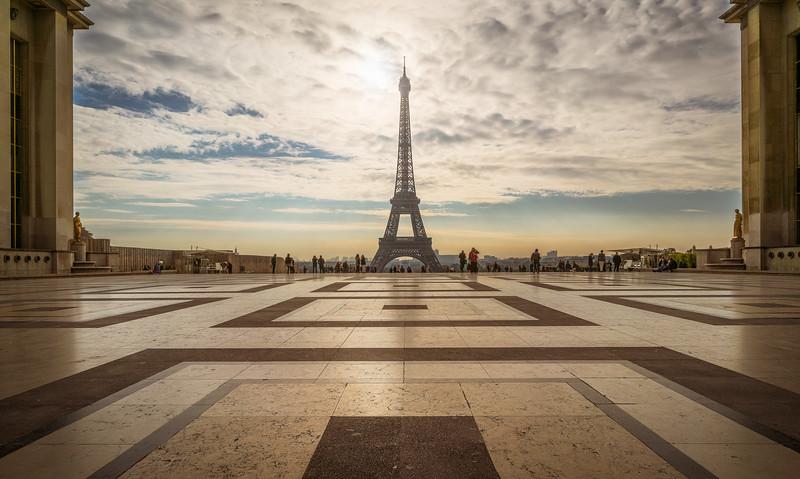 Eiffellturm vom Trocadero Platz